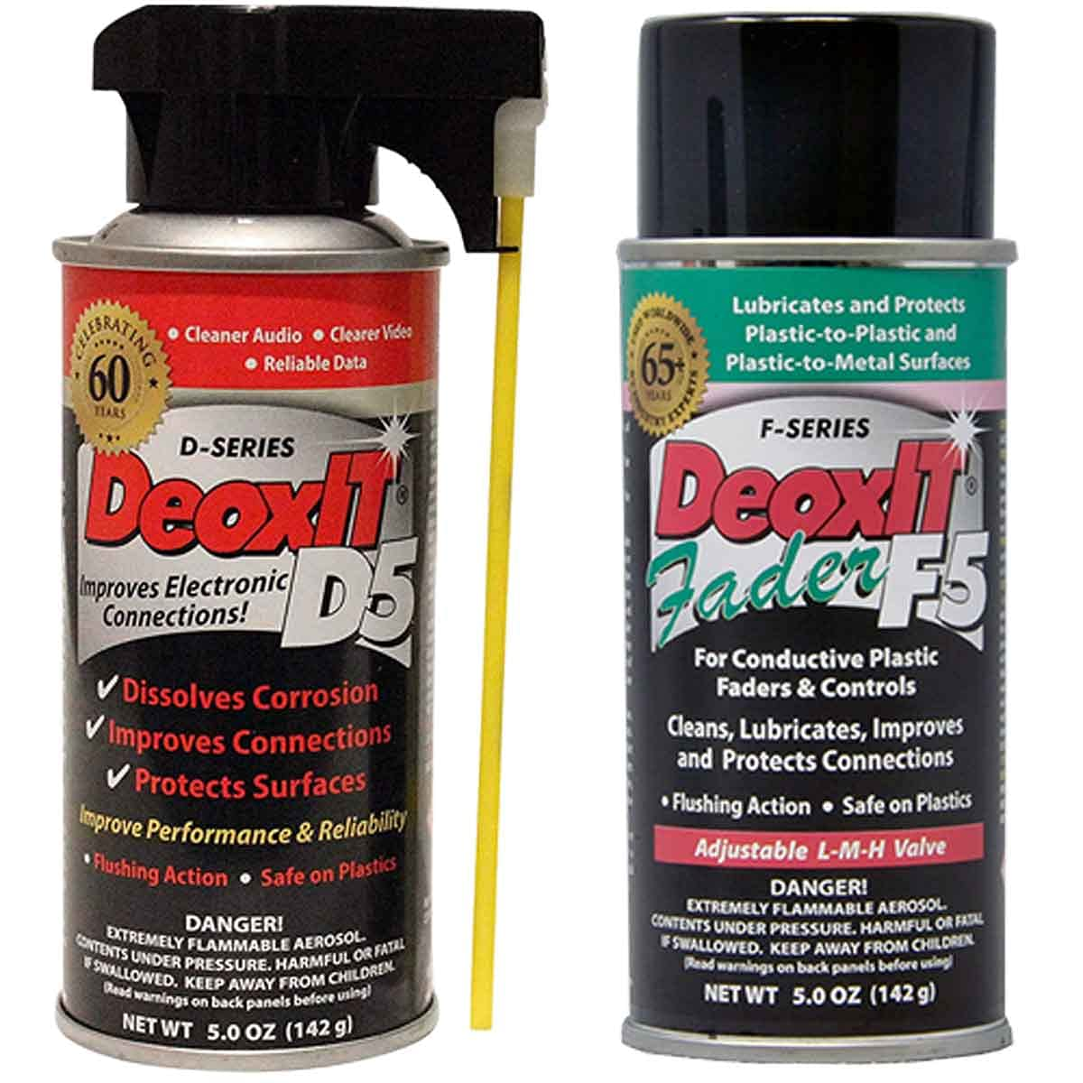 CAIG Laboratories, DeoxIT D5S6 Contact Cleaner + F5S-H6 FaderLube Bundle