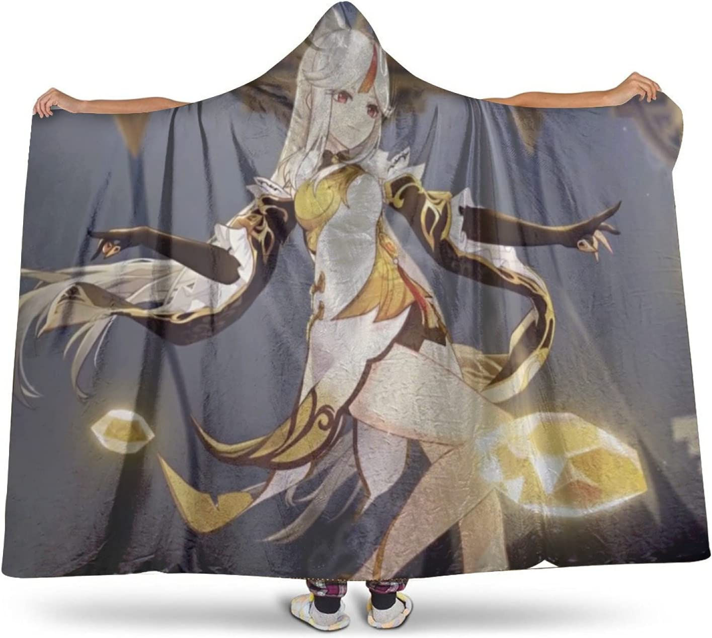 Genshin Impact Hoodie Surprise price Cover Comfy Wearable Max 59% OFF wi Plush Blanket Warm