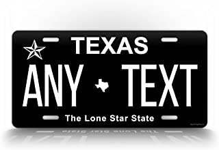 Texas INVERTED License Plate Customized Auto Tag