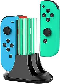 Laddningsdocka för Nintendo Switch Joy-Con, 4-i-1 Joycon Controller-laddare station med LED-indikation och typ C-kabel