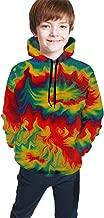 3D Printed Tie Dye Rainbow Whirlpool Teen Boys Girls Graphic Hoodies Cool Pullover Athletic Hooded Sweatshirts