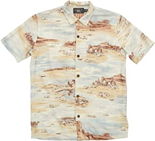 (ダブルアールエル) RRL シーニック プリント リネン ブレンド シャツ 半袖 メンズ Scenic Print Linen Blend Shirt 並行輸入品 [並行輸入品]