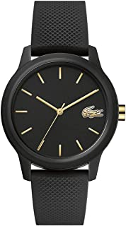 Lacoste TR90 Quartz Watch with Rubber Strap, Black, 16 (Model: 2001064)