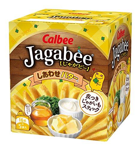 『カルビー じゃがビー Jagabee しあわせバター 80g×12箱』のトップ画像