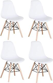 Pack 46 sillas de Comedor Silla diseño nórdico Retro Estilo Silla para la Cena Estudio Trabajo.