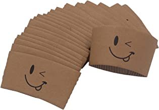 Warmbuy Emoji Coffee Cup Sleeves, 100 Count
