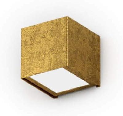 Homemania Lampe Murale Toy Applique carrée Or en métal Verre 7,5 x 8,5 x 7,5 cm 1 x G9 Max 48 W 220-240 V