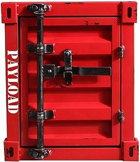 GLYYR Table de chevet rétro industrielle en métal robuste 14 couleurs pour canapé, table de chevet, armoire de rangement c...