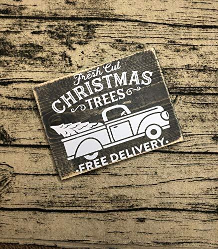 Ced454sy Weihnachtsbaum Farm Schild Weihnachtsbaum Bauernhaus Schild Weihnachten Wanddeko Weihnachtsbäume Home Decor