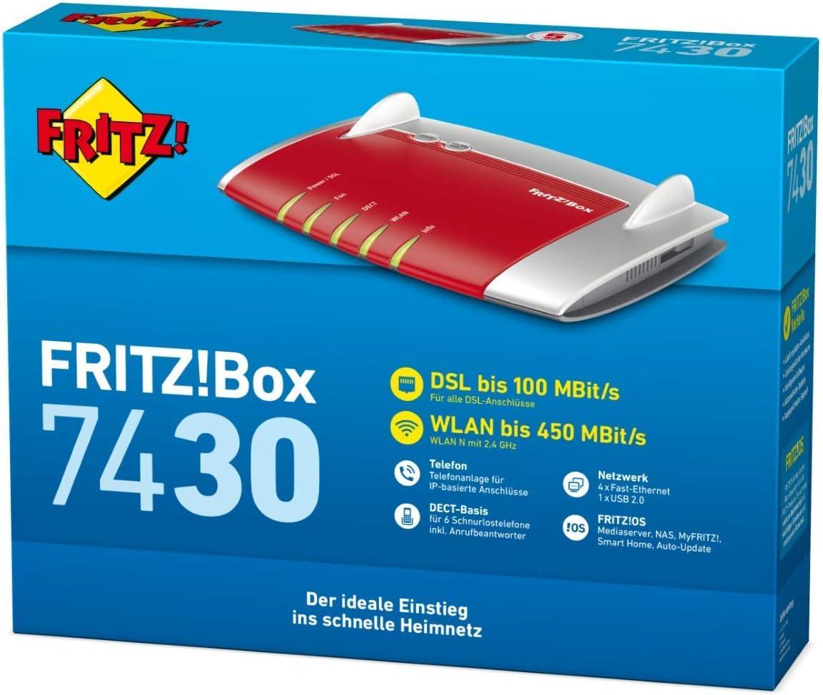 AVM FRITZBox 200 VDSL /ADSL20+, WLAN N, 20 MBit/s , TK Anlage ...