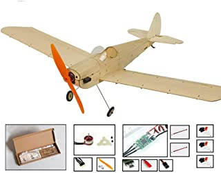 Balsa Wood Airplane Kit Micro 3CH 460mm Spacewalker by DW Hobby; Remote Control Balsawood Laser Cut Plane Space Walker for Adults;RC Un-Assembled Flying Model for Fun (K0904)