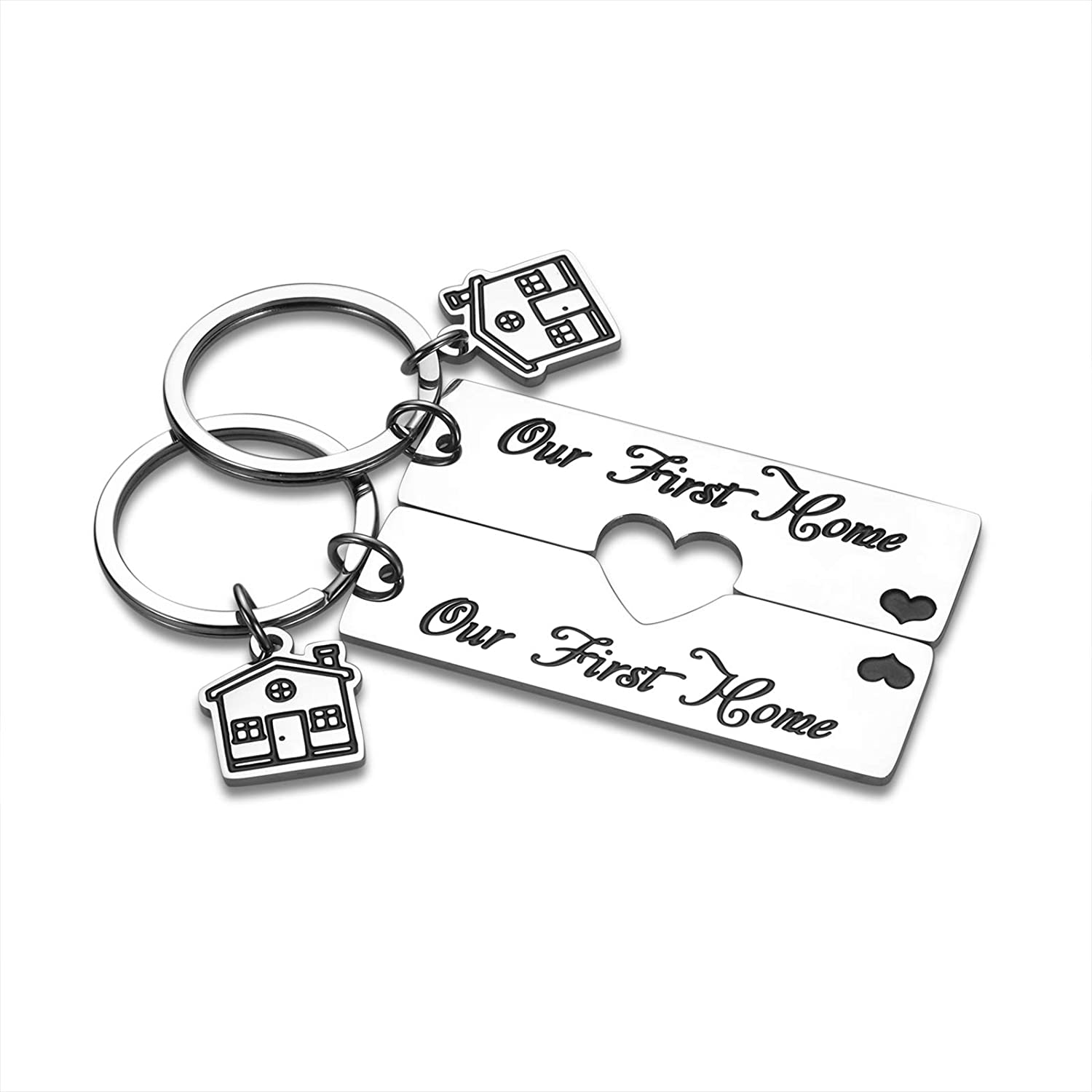 2 Pcs 2021 New Home Gifts Our First Home Keychain for Home Housewarming Gifts for New Homeowners Realtor Gifts for Women Men House Gifts Couple Friend Daughter New Home Keychain House Warming Presents Moving in Keyring Matching Keychain Jewelry