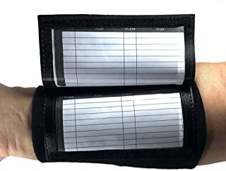CAREWORX Wrist Coach - Playbook Wristband (Adult) with Triple Windows-Great for Tackle,Touch,and Flag Football