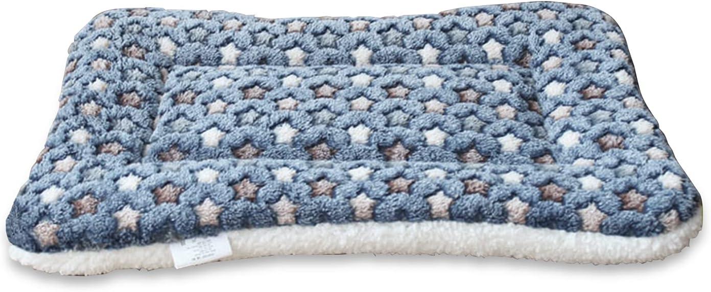 Greyoe Manta Perro, Alfombrilla para Perros colchón autocalentable para Mascotas Lavable para Perros y Gatos pequeños y medianos para Mantener la Cama cálida y cómoda (Azul, 47x33cm)