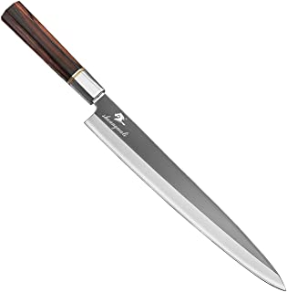 Couteau à sashimi 12inch professionnel japonais Sashimi Couteau de pêche Couteau de cuisine Sushi Chef Couteaux 5CR15 Salm...