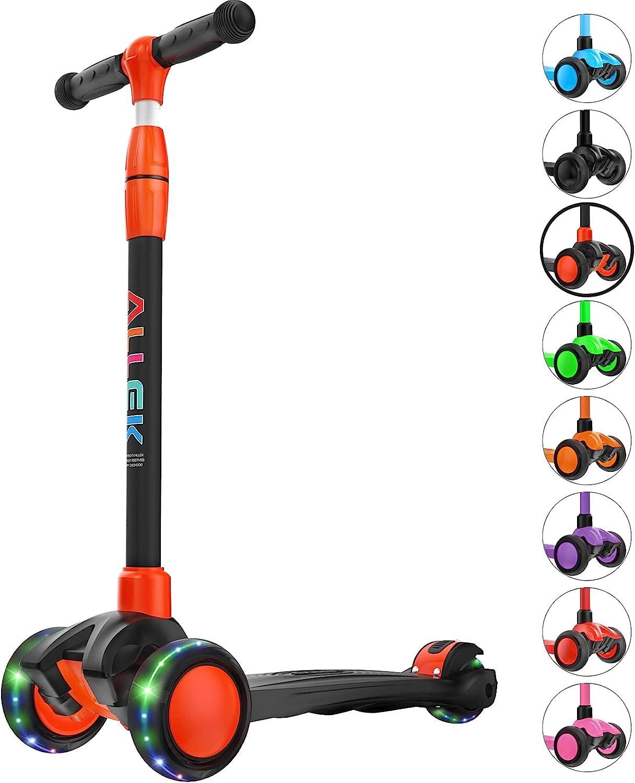 Allek Kick Scooter B03 Lean 'N 3-Wheeled wit Push specialty shop Glide Finally popular brand