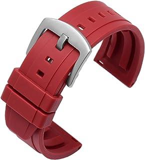 ZXF Silicone de 24mm de 20mm 22mm 42mm 46mmmsittable pour la Plupart des horloges d'interface Plan Bracelets Montre Silicone