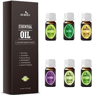 Kits de aceites esenciales de aromaterapia: TOP6 lavanda/menta/árbol de té/naranja dulce/eucalipto/limoncillo