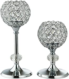 Candle Holders Set of 2,Candle Holder for Wedding,Candle Holders for Table Centerpiece,Crystal Candle Holders for Coffee Table Home Anniversary Celebration Birthday Party Holiday Housewarming Gifts