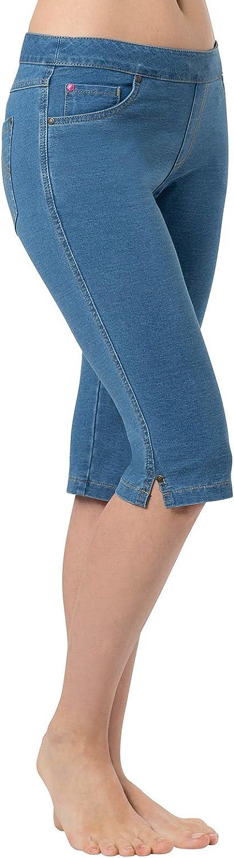 PajamaJeans Bermuda Shorts for Women Mesa Mall - Capri Denim Deluxe Jeggi Stretch