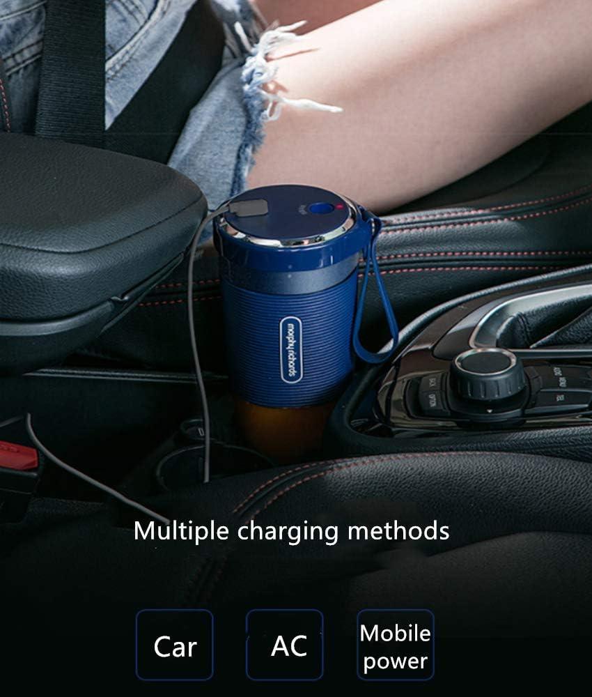 Jugo eléctrico USB Cupportable Juicer Multifunción Pequeño Jugo de fruta eléctrico Taza Cocina casera Mezclador de jugo,White Pink