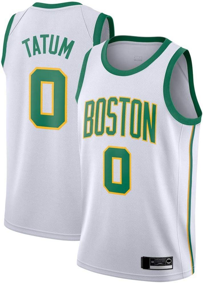 165~170CM Boston Celtics # 0 Jayson Tatum Jerseys De Deportes Ocasionales del Chaleco Tops Sin Mangas Transpirable Camisetas,Blanco,S Wo nice Uniformes Baloncesto De Los Hombres
