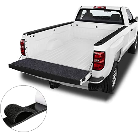 Caterpillar Ultra-Tough Extra-Thick Heavy-Duty Truck Bed Tailgate Mat Universal Trim-to-Fit Design for All Pickup Trucks 62 x 21