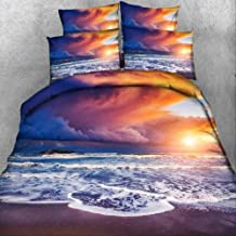 Duvet Cover Set, 3D Print Conch with Shell Scenery Size Bedding Set Linens Duvet Cover and Pillowcase Home Textile Luxury ...