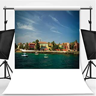 View to Historic City at The Goree Island Theme Backdrop Photography Backdrop for Pictures,Senegal,6.5x10ft