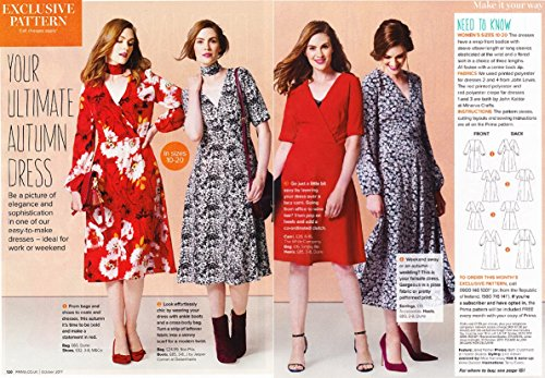 Prima Sewing Pattern, Ladys Dress, (bags & chokers not included) Sizes 10-20 Bust 83-107cm Waist 64-87cm Hip 88-112cm