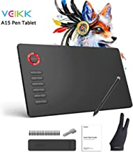 Graphics Drawing Tablet VEIKK A15 10×6 inch Graphic Pen Tablet with Battery-Free..