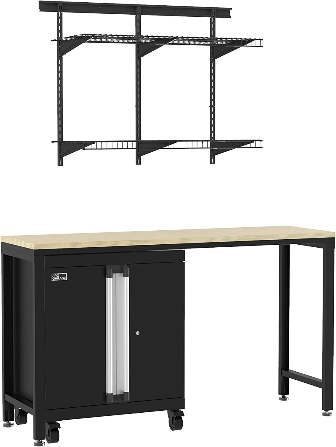 ClosetMaid Shelf Steel Storage Cheap mail order shopping Workbench Max 72% OFF Table MaxLo Cabinets