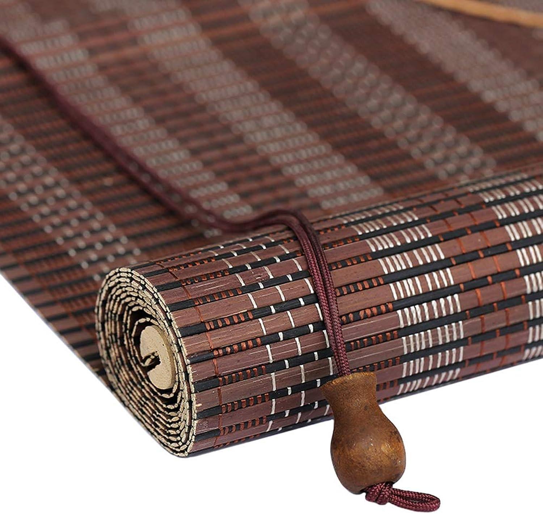 alta calidad general LXLA - Persianas enrollables de Madera para Ventanas y y y Puertas, persianas de bambú para Levantar a Mano, projoección contra Reflejos y luz - Color café (Tamaño   W80cm X H160cm)  muy popular