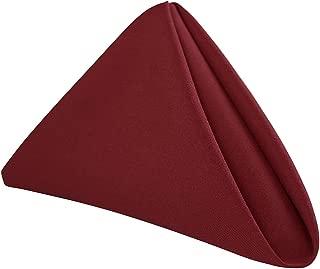 "RC ROYAL CREST by Sigmatex - Lanier Textiles NK2020SFBG 100% Murata Jet Spun (MJS) Polyester Cloth Napkins, Size: 20"" x 20"" Finished, Set of 12 (1 Dozen) (Burgundy)"
