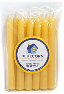 Bluecorn Beeswax 100% Pure Beeswax Ceremony and Vigil Candles (Raw)