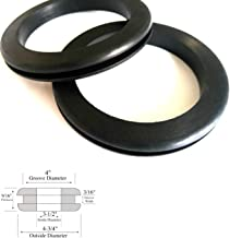 Set of 2 Very Large Rubber Grommets 3-1/2