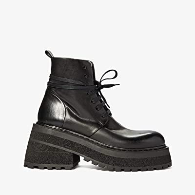 Marsell Tech Sole Combat Boot (Black) Women