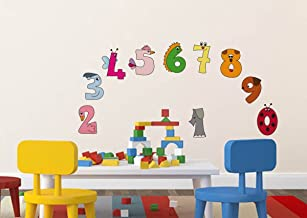 Rawpockets 'Numerical Numbers for Kids Education' Wall Sticker (PVC Vinyl, 1 cm x 65 cm x 55 cm)