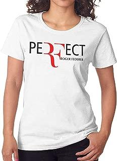 Women's Short Sleeve T Roger Federer T-Shirt White