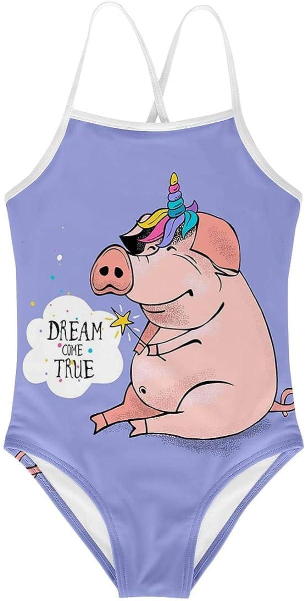 KiuLoam Bunny Fashion Girls One-Piece Swimsuit Swim Bathing Suit for Girls