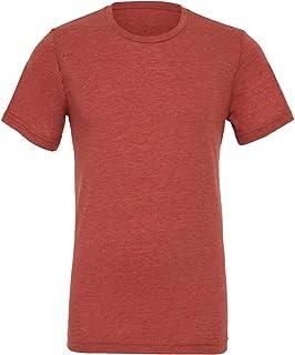 Canvas Mens Triblend Crew Neck Plain Short Sleeve T-Shirt