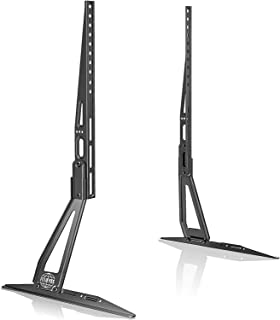 FITUEYES Tableop TV Stand Legs for 27''-60 Inch LCD LED Plasma Flat Curved Screen tv, Tilt & Height Adjustable