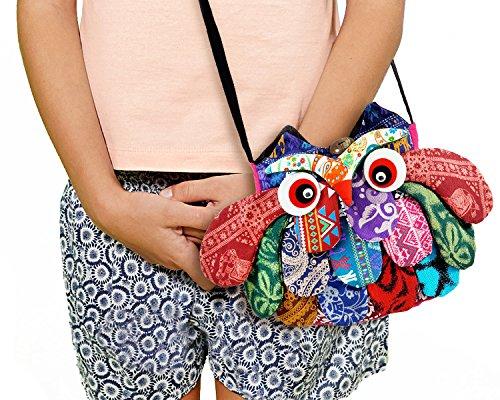 Owl Crossbody Bags Adorable Patchwork