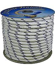 Corderie Italiane 006000761 scheepstouw, gevlochten, 12 mm, 20 m, wit met blauw schild