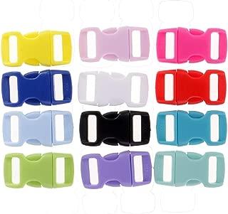 Baosity 36pcs Resin Side Release Buckle For Cord Bracelet Pet Collar Colors 10 Mm