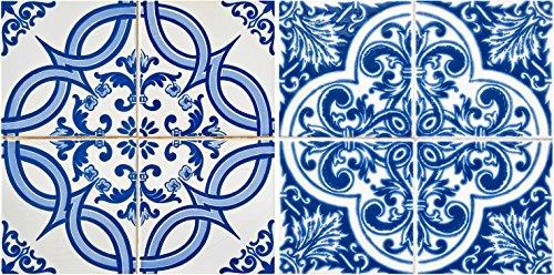 Auténtico Tile Pegatinas de mi alma 24Pc Set Español Diseño Azulejos de pared adhesivo perfecta para Backsplash de cocina o baño azulejos arte de vinilo fácil de instalar Peel and Stick