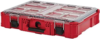 Milwaukee PACKOUT 11-Compartment Small Parts Organizer, Versatile and Durable Modular Storage Syatem, Impact Resistant and Weather Sealed with Heavy Duty Latches and Reinforced Hinge