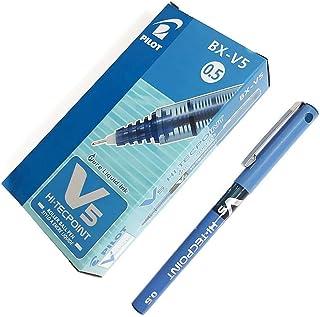 Pilot Hi-tecpoint Roller Ball Pen Bx-v5 (0.5 Mm) Set Of 12 - Blue Ink [ Os-st011-04]