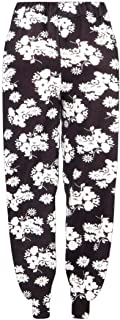Janisramone Womens Ladies New Floral Print Ali Baba Harem Trouser Cuffed Bottom Baggy Hareem Leggings Pants Plus Size