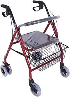 Mobility Aids & Supplies Walker Thick Metal Folding Bike Elderly Rehabilitation Exercise Walker Can Be Placed Four-wheeled...